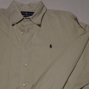 Mens Ralph Lauren Polo Long Sleeve Dress Casual